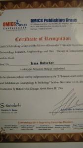 Certificate Irma Hulscher
