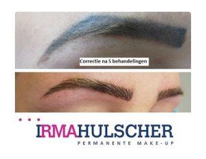 Correctie blauwe wenkbrauwen Irma Hulscher FOTOR