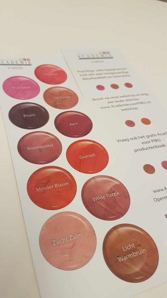 Liplijn Academie voor PMU kleuren